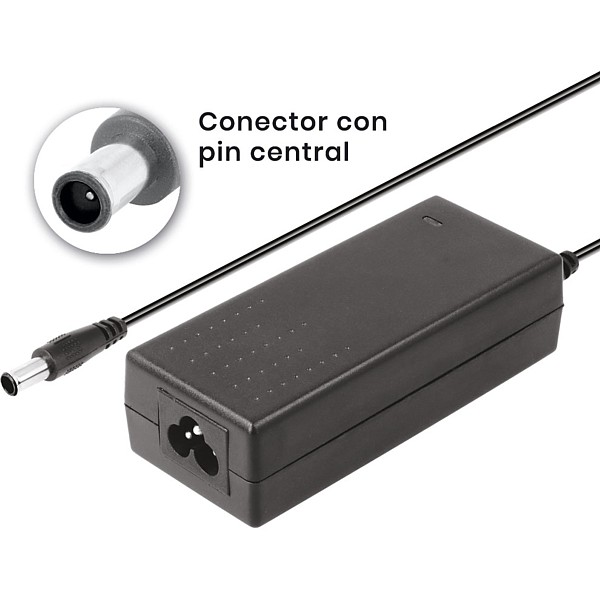 Alimentador 19Vdc/2,1Amp jack 6,5x4,4mm Pin central