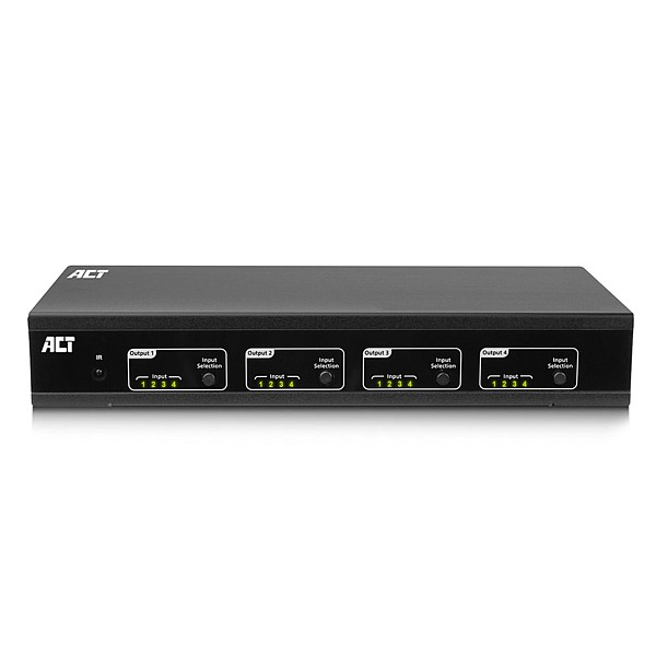 AC7860 Matriz HDMI 4K@60Hz 4x4, IP, RS232, control remoto, software