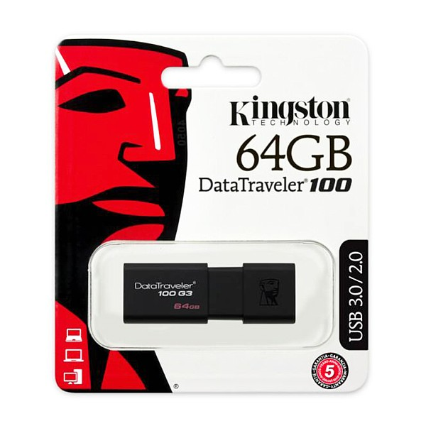 DT100G3/64GB KINGSTON PENDRIVE USB 3.0 64GB