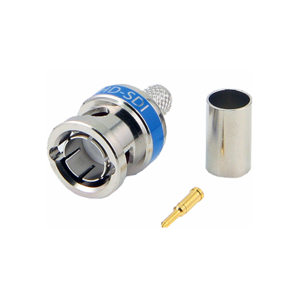 Conector BNC 75Ω HD-SDI / 3G-SDI 0.30/1.50/2.80mm Crimpar